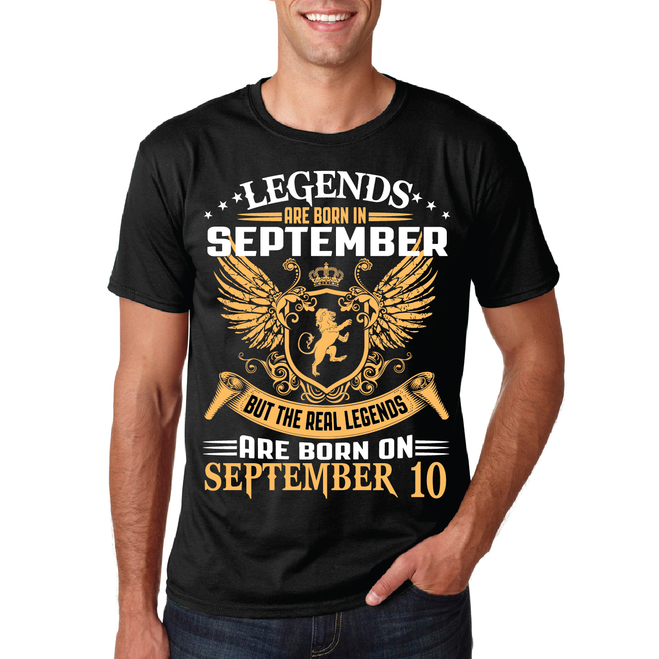 THE REAL LEGENDS ARE BORN ON SEPTEMBER 10- BLACK