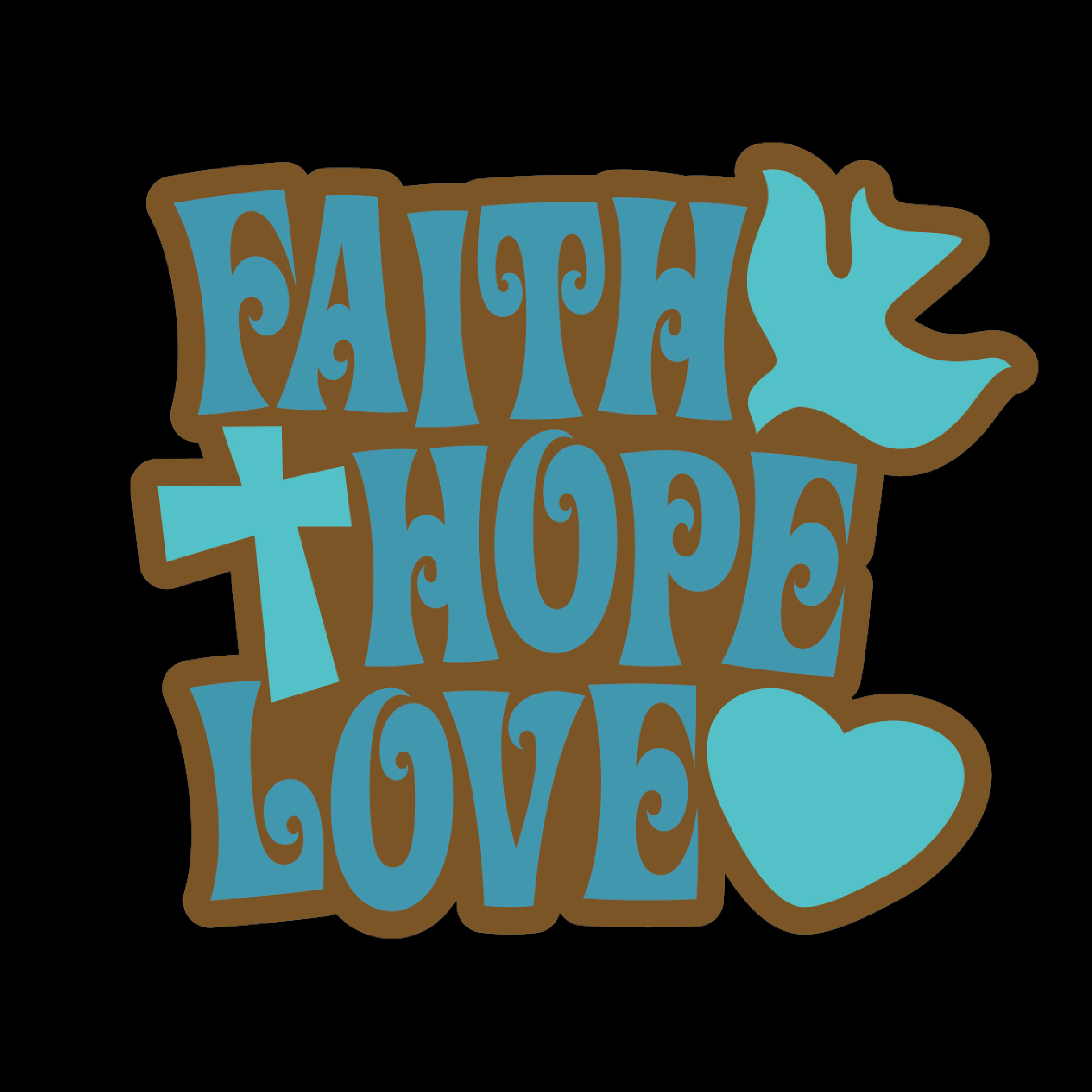 Faith Hope Love Black T-Shirt